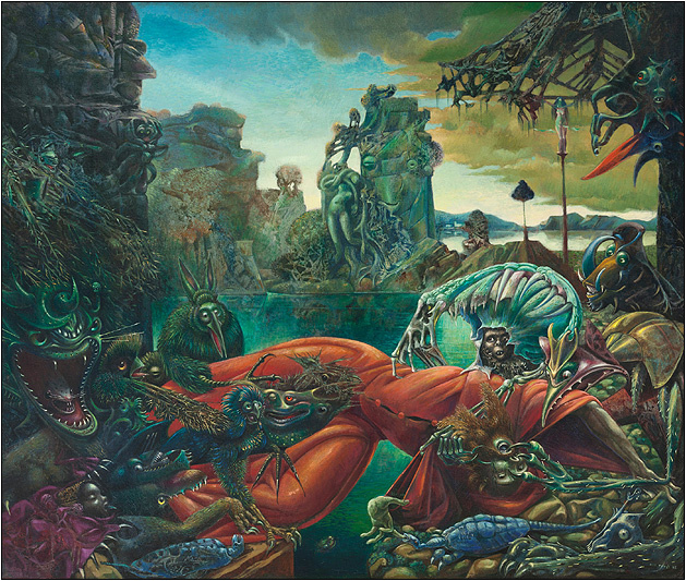 Max Ernst. The temptation of St. Anthony