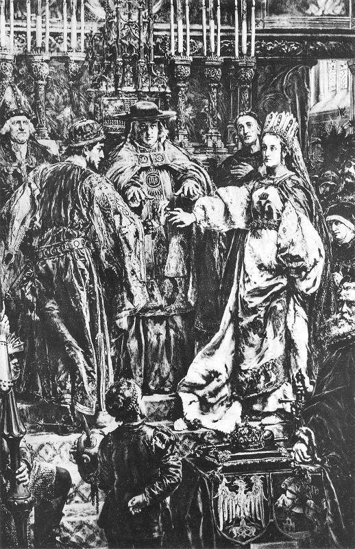 Ян Матейко. Брак Казимира Ягеллонка с эрцгерцогиней Елизаветой