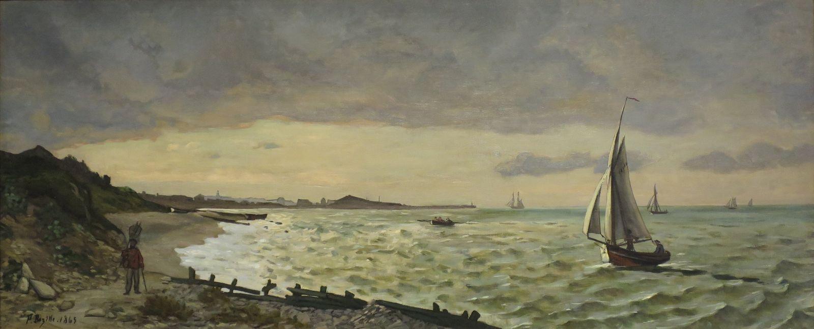 Фредерик Базиль. Пляж в Сент-Адресс