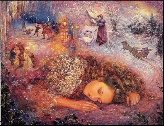 Josephine Wall. Winter dreams