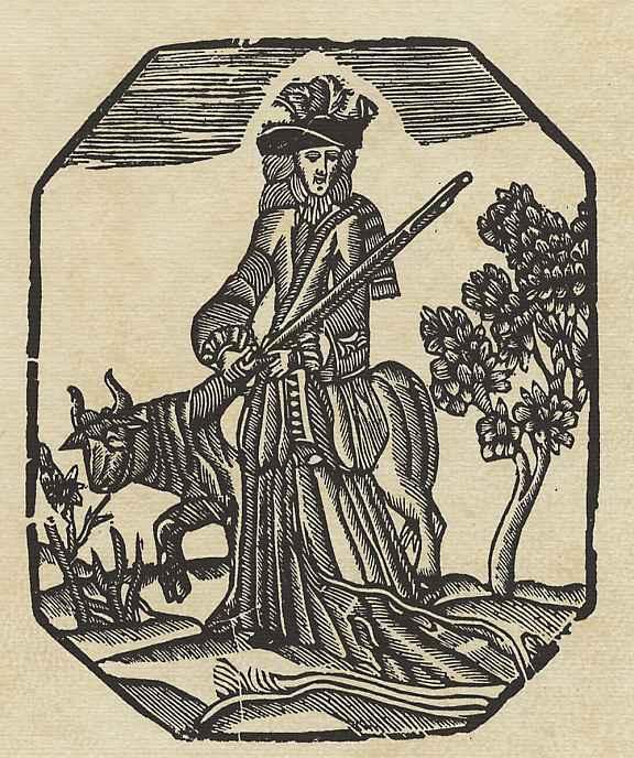 """Ксилограф из печатни Эстивиль в Барселоне. Иллюстрация к """"Четырём аллегорическим фигурам"""", : Охота"""