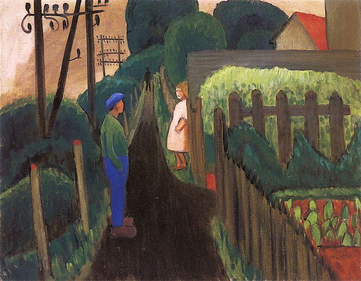 Gabriele Münter. Dark path