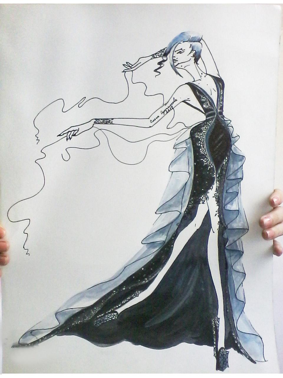 Olga Suncheleeva. Black dress