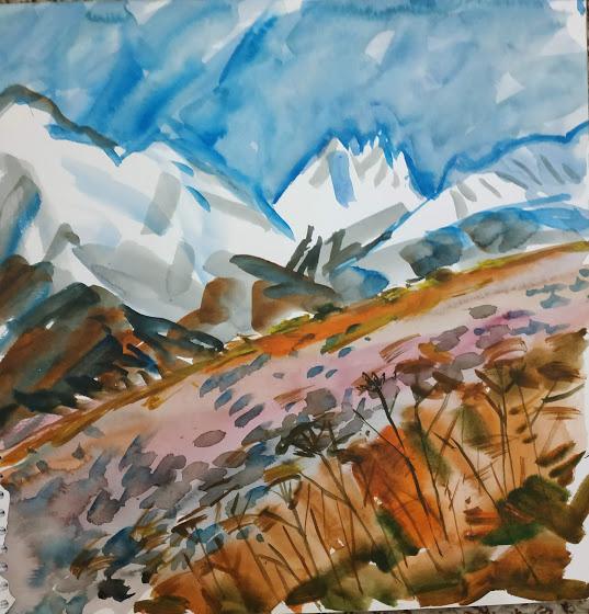Natalia Gennadievna Torlopova. Autumn in the mountains of the Caucasus