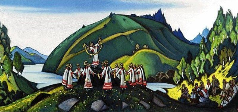 """Nicholas Roerich. The Rite Of Spring. Sketch for the ballet """"Spring sacred"""" by I. Stravinsky"""