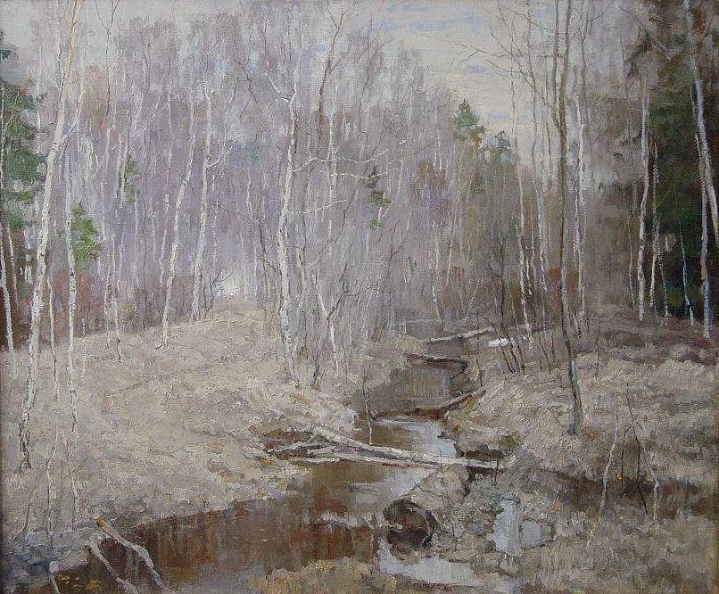 Boris Petrovich Zakharov. April to elk island.