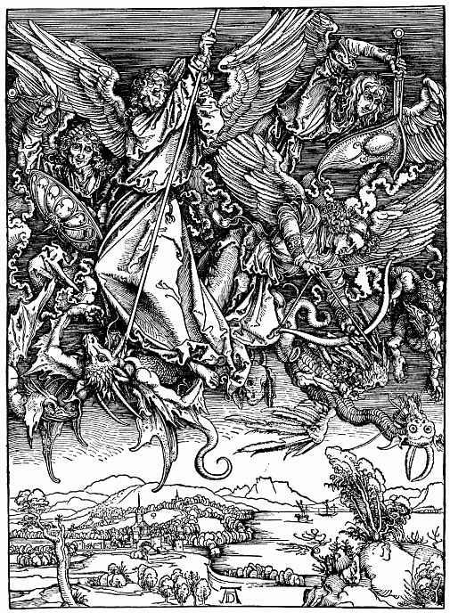 Альбрехт Дюрер. Битва архангела Михаила с драконом