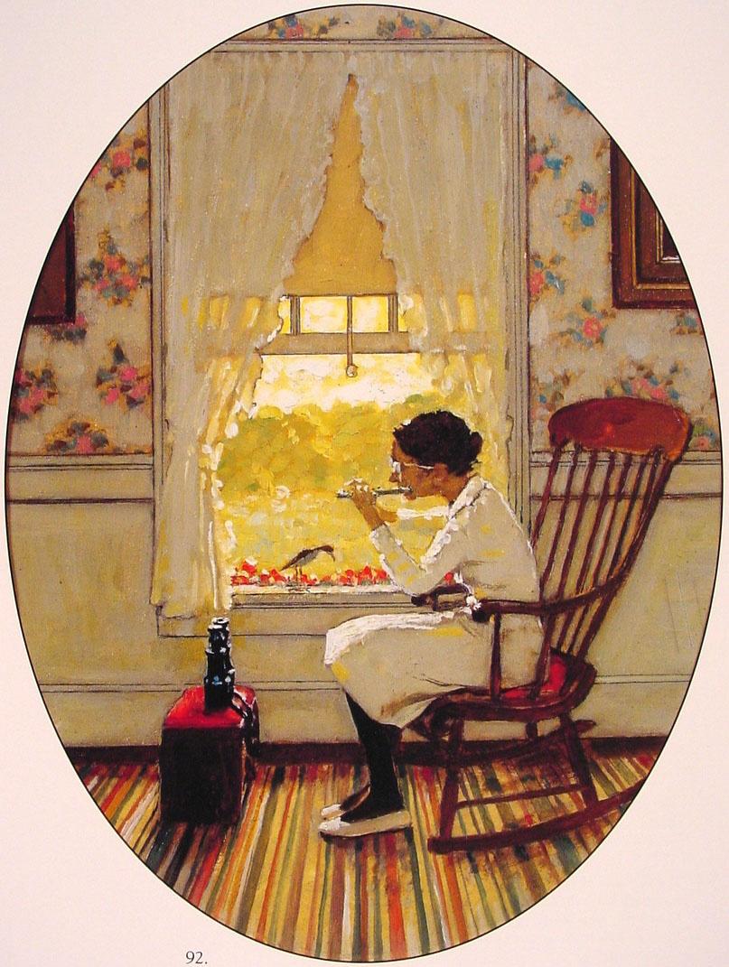 Norman Rockwell. Window