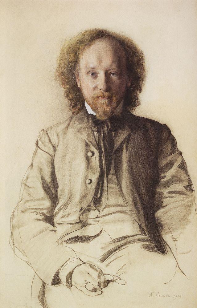 Константин Андреевич Сомов. Портрет писателя и поэта Иванова