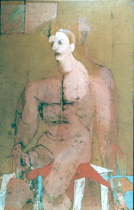 Виллем де Кунинг. Сидящий мужчина