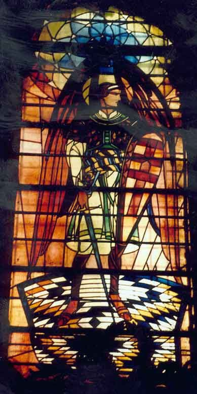 Peter Ivanovich Cold. Archangel Michael. Stained Glass Church of the Assumption of the Virgin