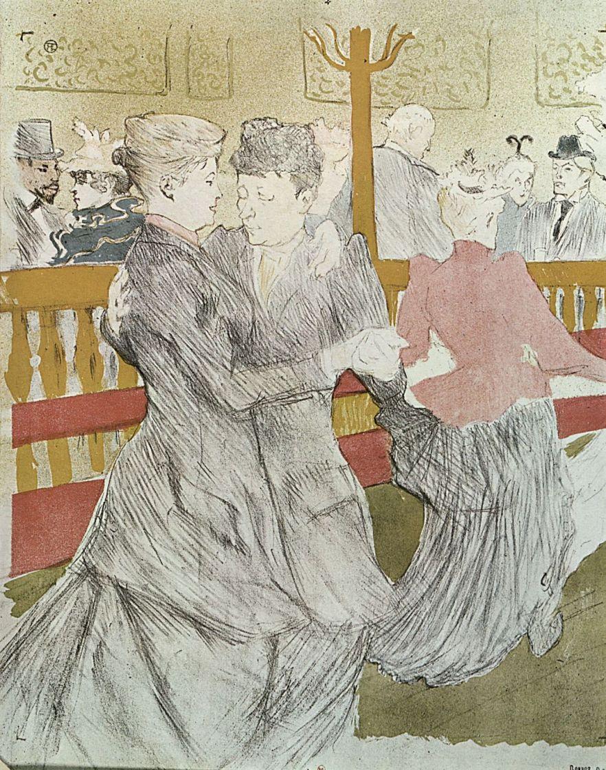 Henri de Toulouse-Lautrec. Dancing At The Moulin Rouge