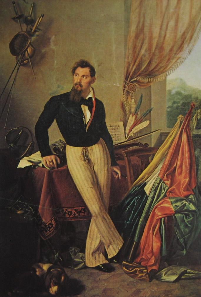 Francesco Ayets. Portrait of Count Baloni