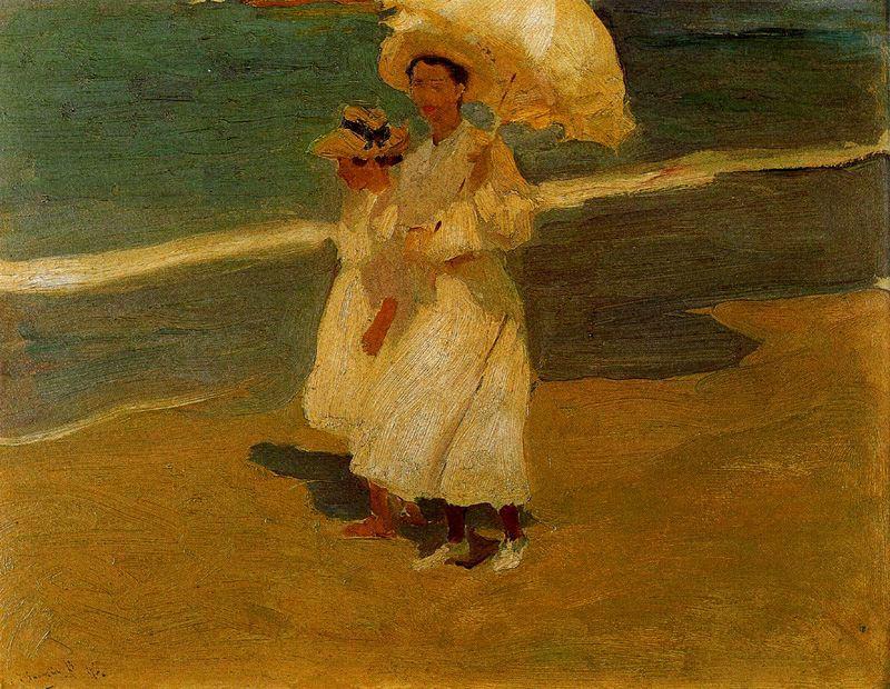 Хоакин Соролья (Соройя). На пляже