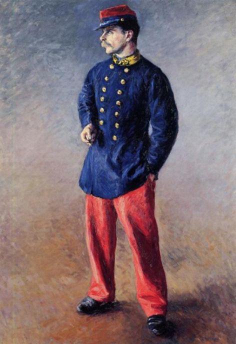 Гюстав Кайботт. Солдат