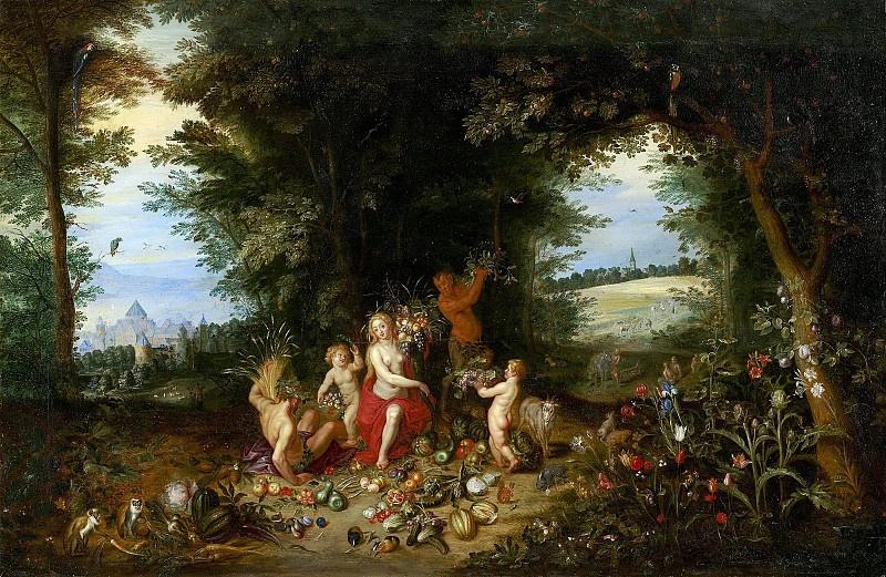 Ян Брейгель Младший. Аллегория земли, или Пейзаж с Церерой