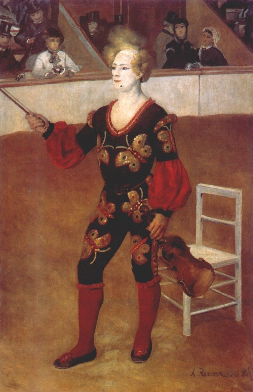 Pierre-Auguste Renoir. A clown in the circus