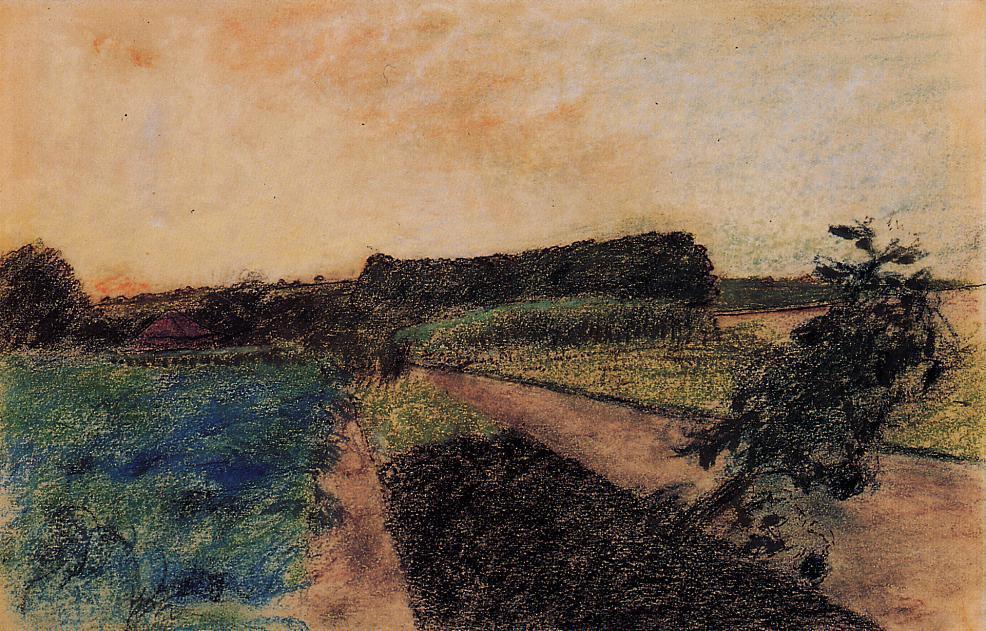 Эдгар Дега. Пейзаж в Орм