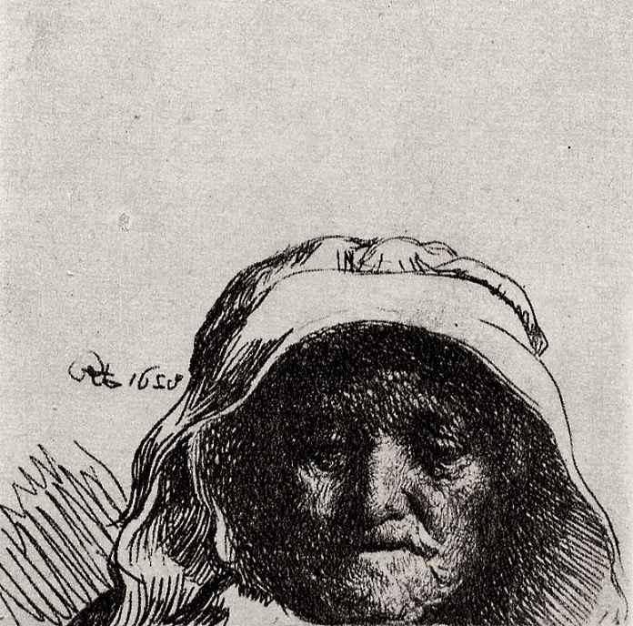 Рембрандт Ван Рейн. Портрет матери