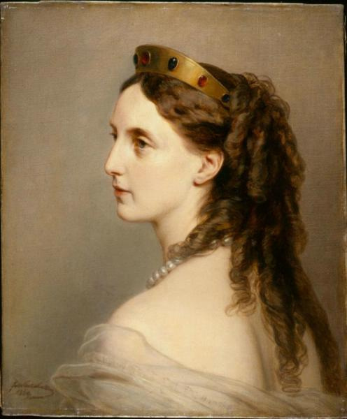 Franz Xaver Winterhalter. Portrait of Grand Duchess Maria Nikolaevna