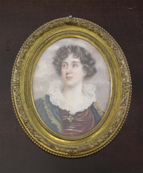 Энтони Фредерик Огастас Сэндис. Портрет молодой женщины (миниатюра)