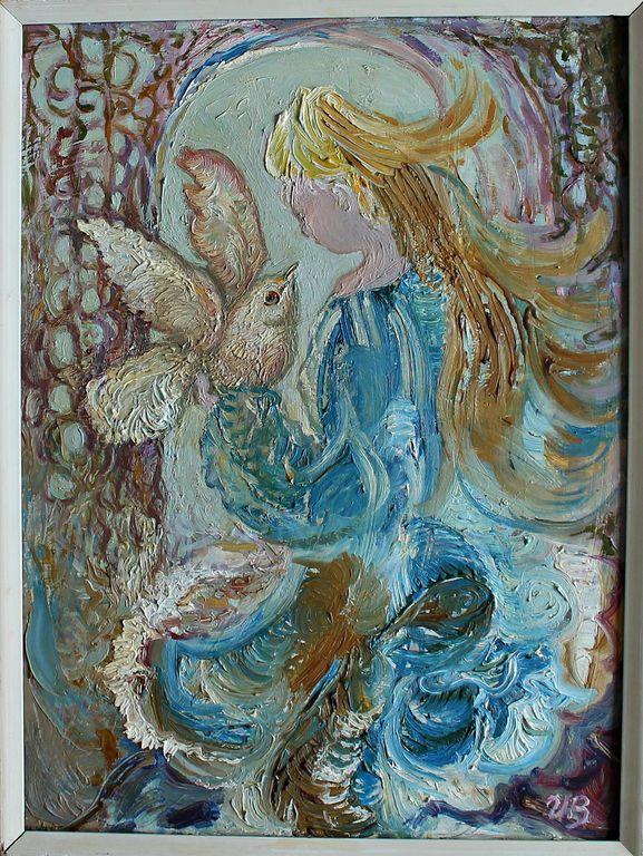 Irina Borisovna Vasilyeva. Girl with a bird