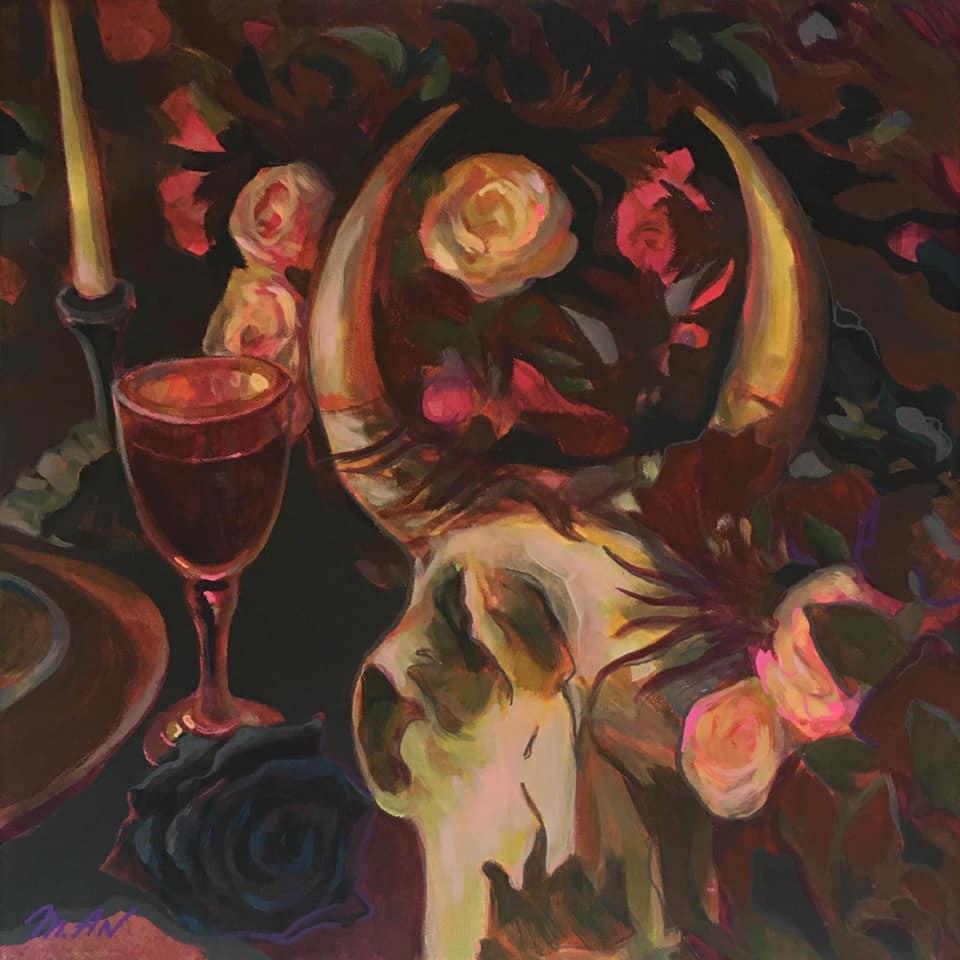 Tatiana An. The black rose is an emblem of sadness ...