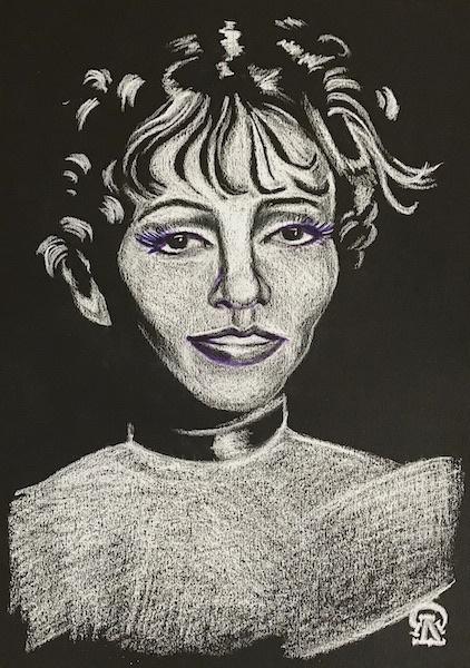 Larissa Lukaneva. Female portrait. Sketch.