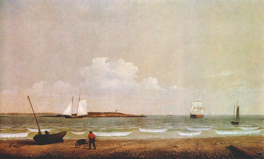 Фитц Хью Лейн. Пляж