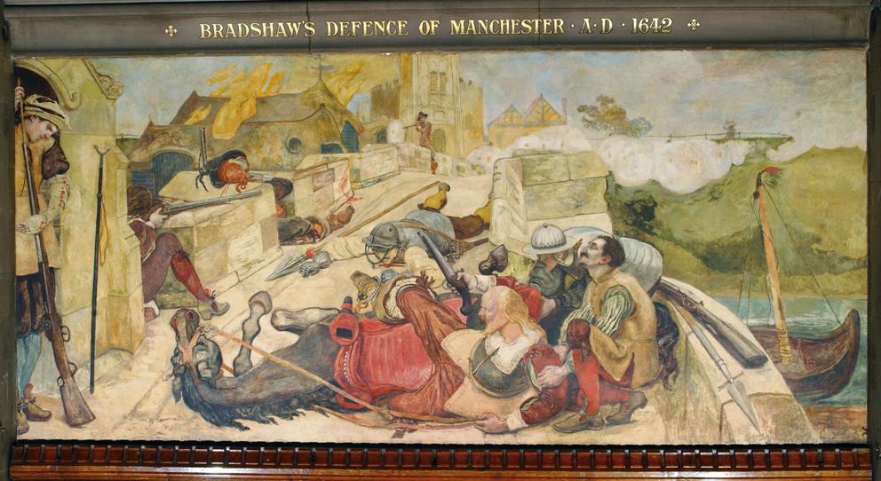 Форд Мэдокс Браун. Брэдшоу защищает Манчестер, 1642 год. Фреска мурала здания Манчестерской ратуши