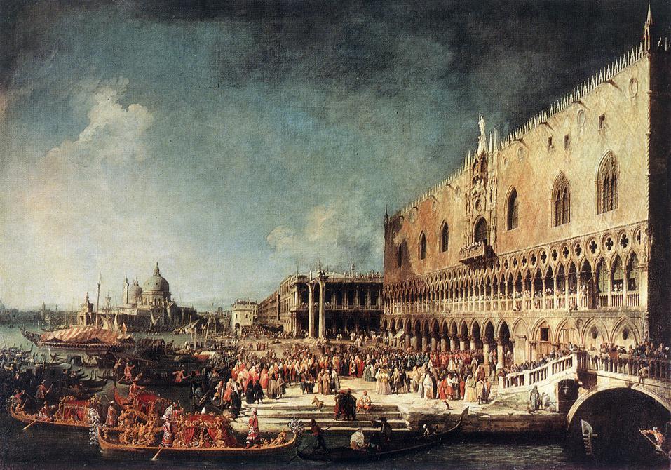 Джованни Антонио Каналь (Каналетто). Прибытие французского посла в Венецию