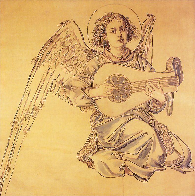 Ян Матейко. Ангел, играющий на цитре. Проект для церкви Святой Марии