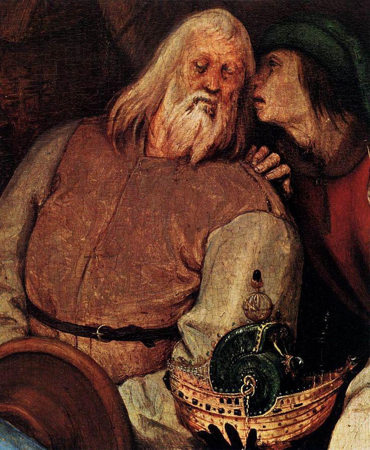 Pieter Bruegel The Elder. The adoration of the Magi. Fragment 2
