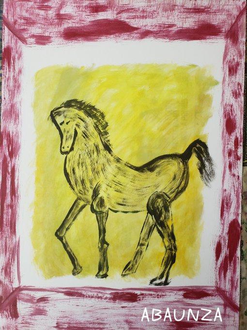 EDUARDO ABAUNZA. YELLOW HORSE