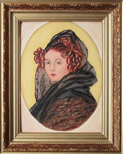Victor Petrovich Burmin. Portrait of Countess AG Muravyeva