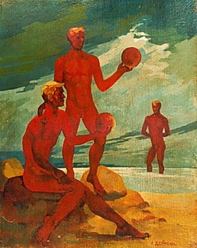 Александр Александрович Дейнека. На пляже