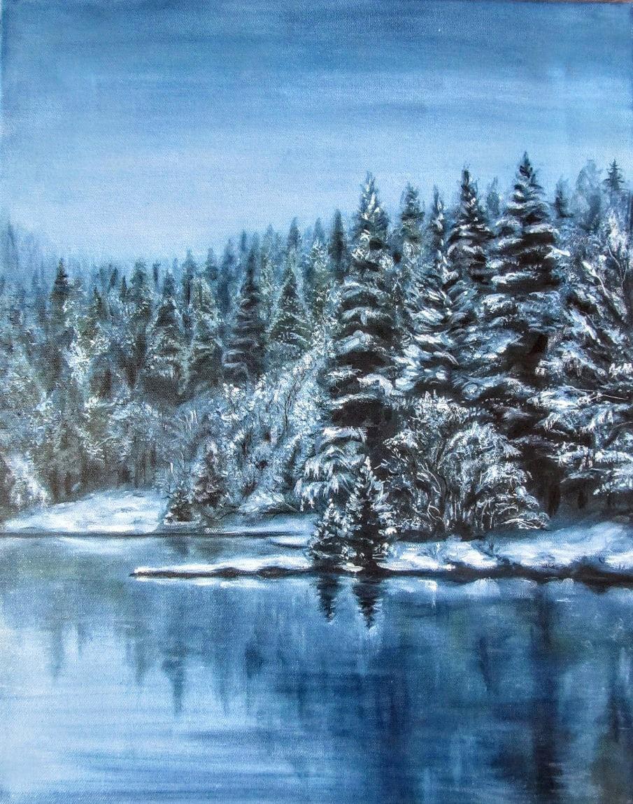 Tatiana Borisovna Gritsova. Winter forest
