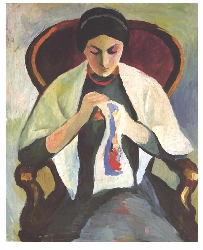 August Macke. Embroiderer