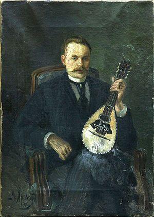 Михаил Михайлович Яровой. Портрет мужчины с лютней (Автопортрет)
