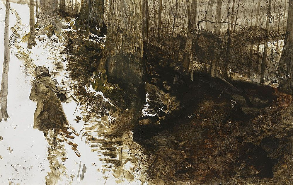 Andrew Wyeth. Helga on the path