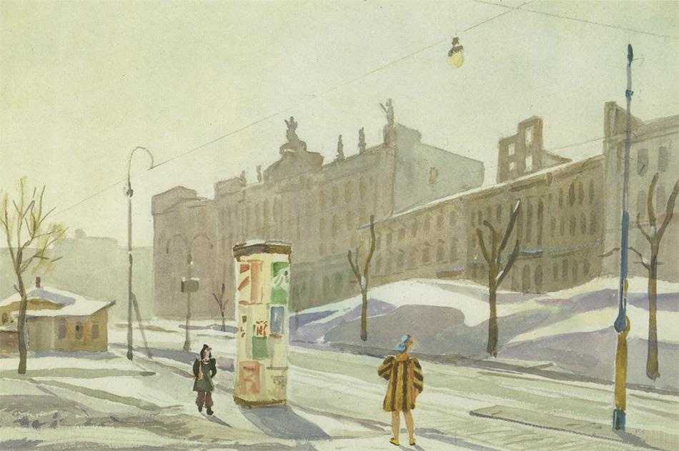Александр Александрович Дейнека. Улица