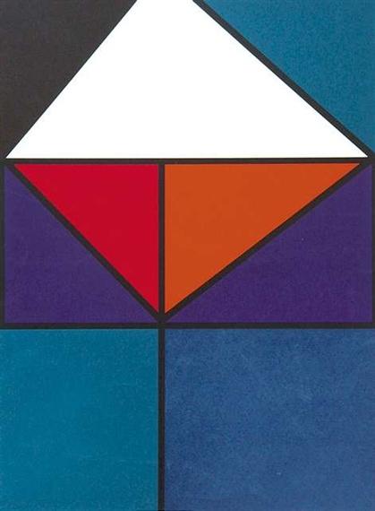 Иоганнес Иттен. Плакат для выставки Баден-Бадене