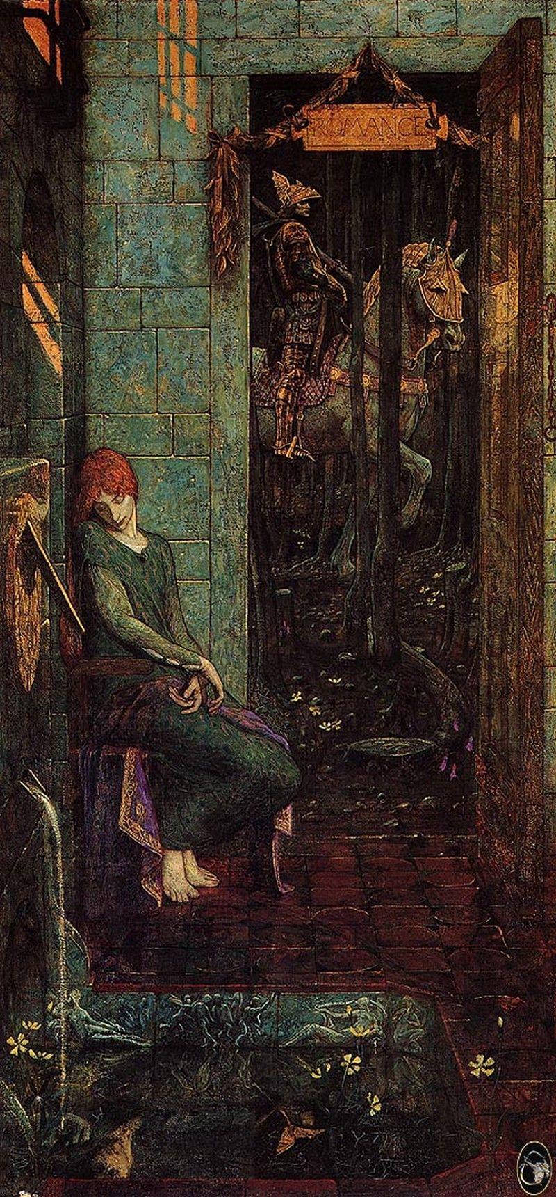 Edward Coley Burne-Jones. Owain leaves Landin