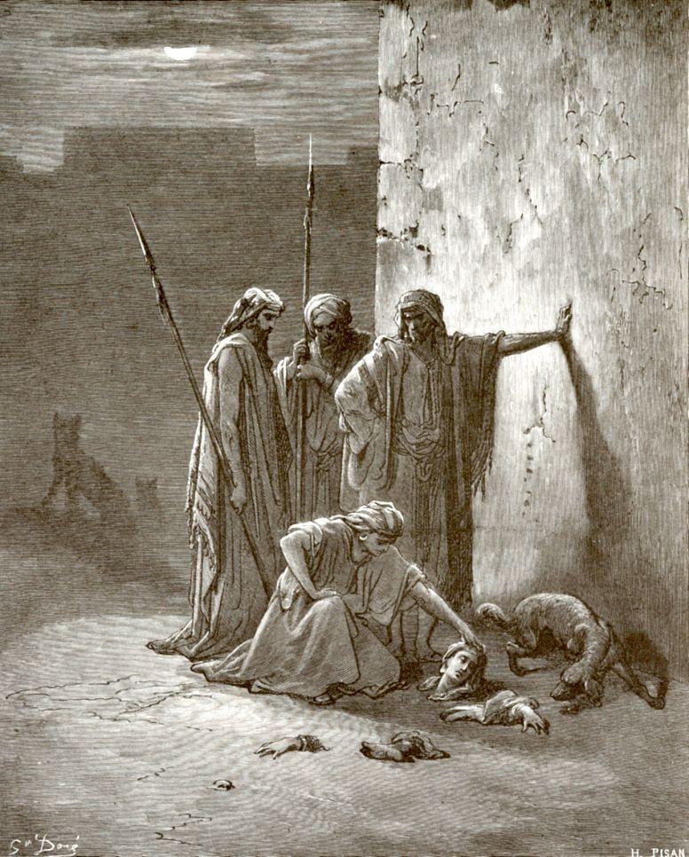 Поль Гюстав Доре. Посланные Ииуем нашли останки Иезавели