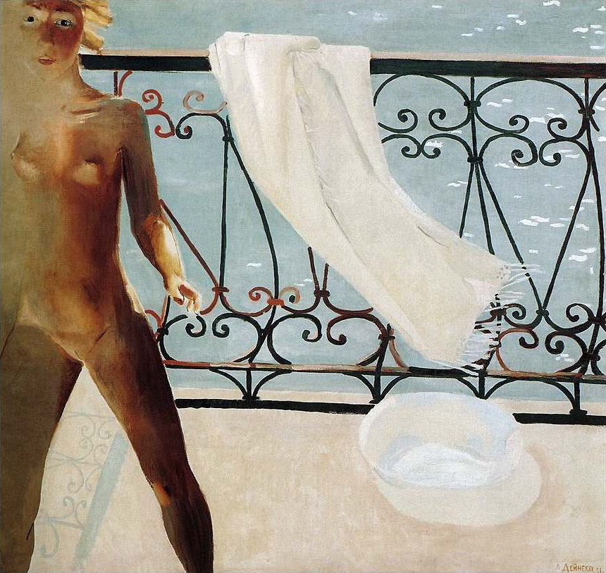 Александр Александрович Дейнека. На балконе