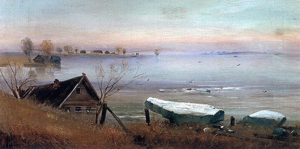 Алексей Кондратьевич Саврасов. На большой реке