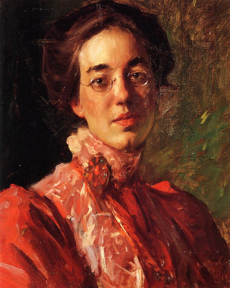 William Merritt Chase. Portrait Of Elizabeth (Betsy) Fisher