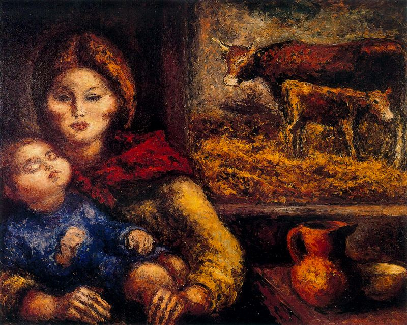 Arturo Souto. Mother with baby on hands