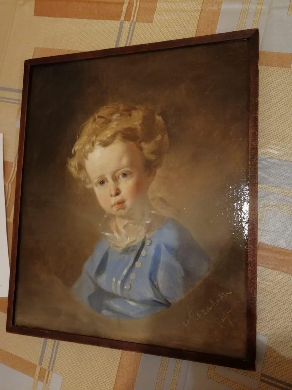 Ivan Kuzmich Makarov. Portrait of a 1847 boy