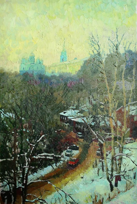 Mikhail Rudnik. Winter in the city
